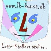 Lotte Kjoellers artstudio Atelier Lk-kunst.dk