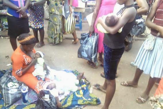 mother triplet awka market anambra