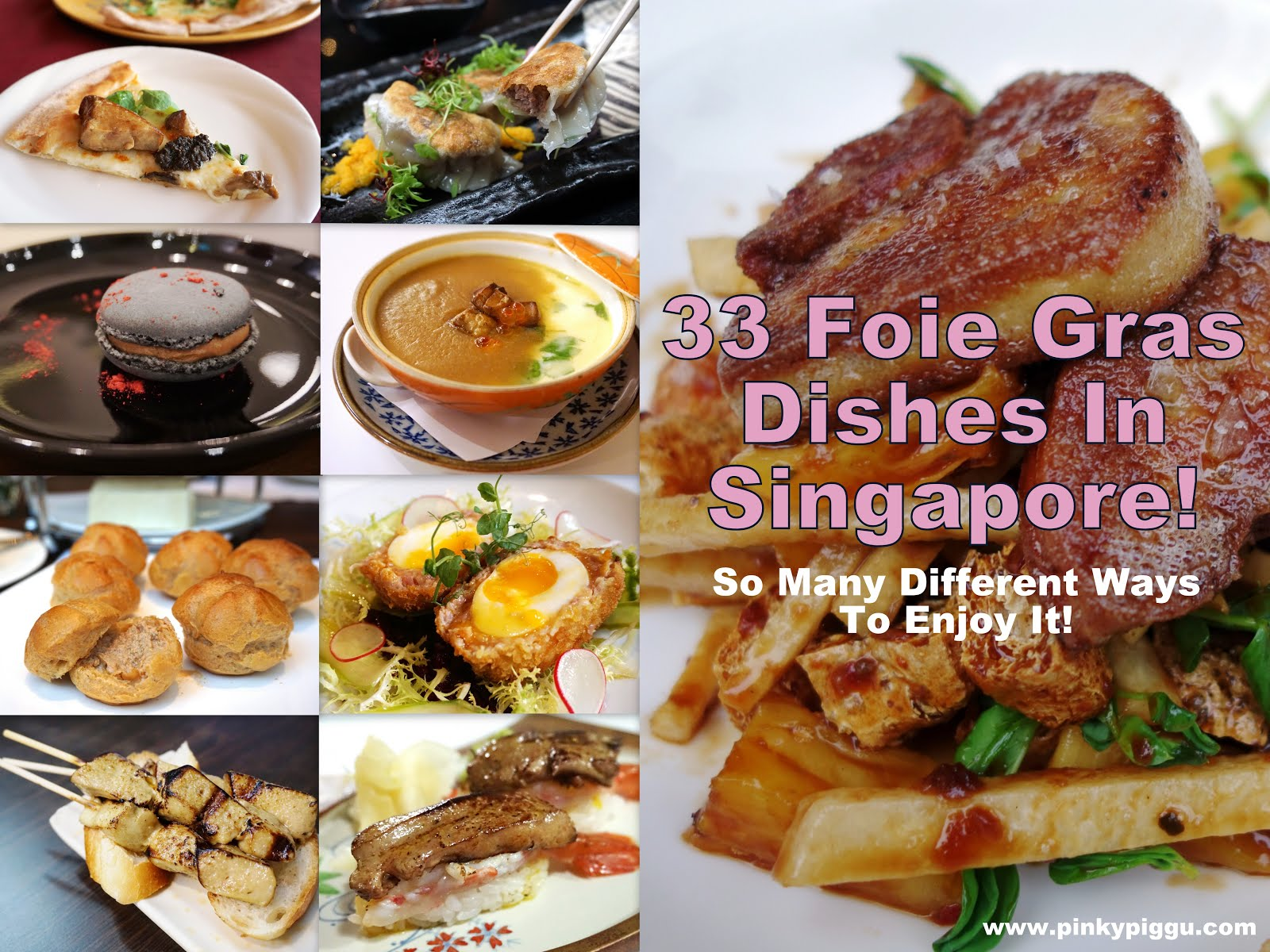 33 Different FOIE GRAS Dishes in Singapore!