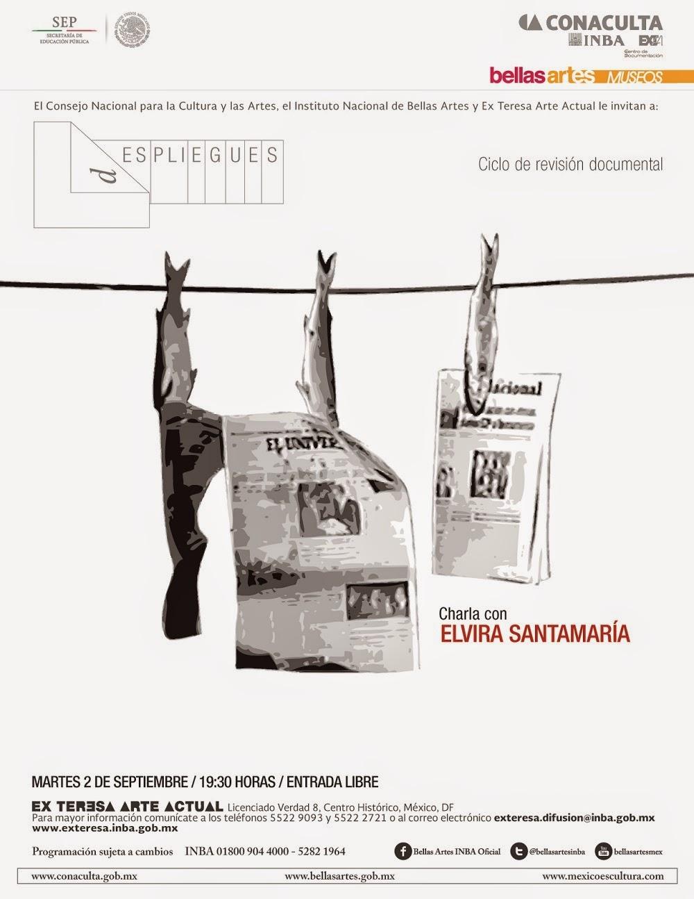 """El ciclo """"dESPLIEGUES, ciclo de revisión documental"""" presenta a Elvira Santamarina en el Ex Teresa Arte Actual"""