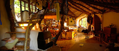 Wales hobbit house interior