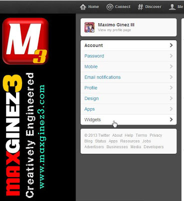 How to Add Twitter Feed Widget on Blogger Procedure 2 by www.maxginez3.com