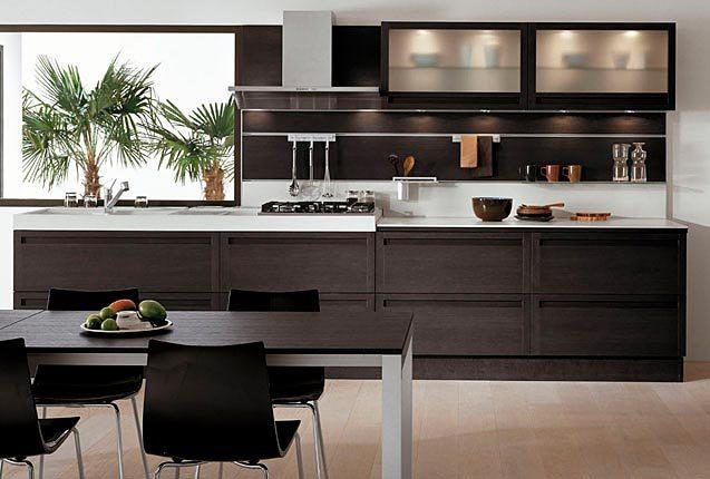 Cocinas lineales para todos los gustos cocinas con estilo ideas para dise ar tu cocina - Muebles de cocina color wengue ...