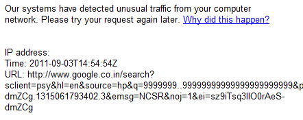  Google Blocked Me:Unusual Traffic From Your Computer Network?