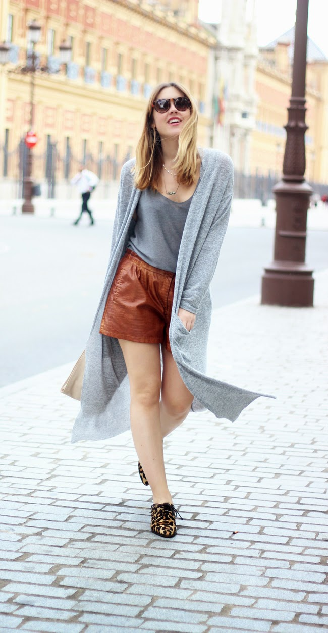 maxi cardigan with shorts