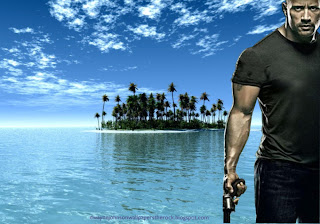 Dwayne Johnson Wallpapers The Rock Fast Five Movie actor in Paradise Island desktop wallpaper