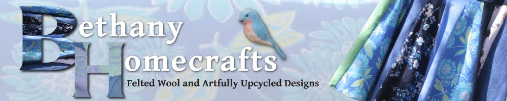 Bethany Homecrafts, Felted Wool and Artfully Upcycled Designs