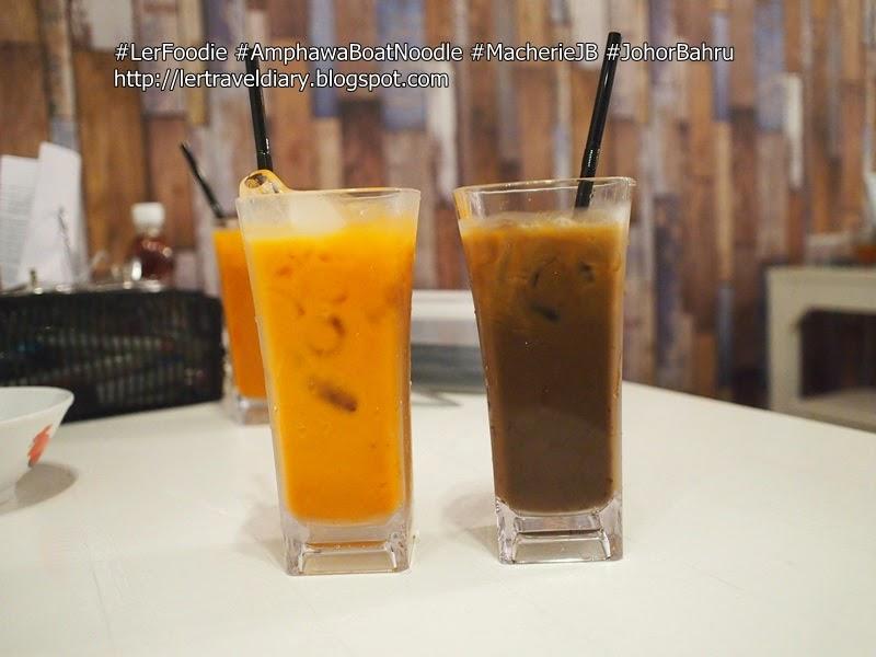 Left: Thai Ice Milk Tea (Cha Yen) RM4.90 / Right: Thai Ice Coffee (Kah Feh Yen) RM4.90