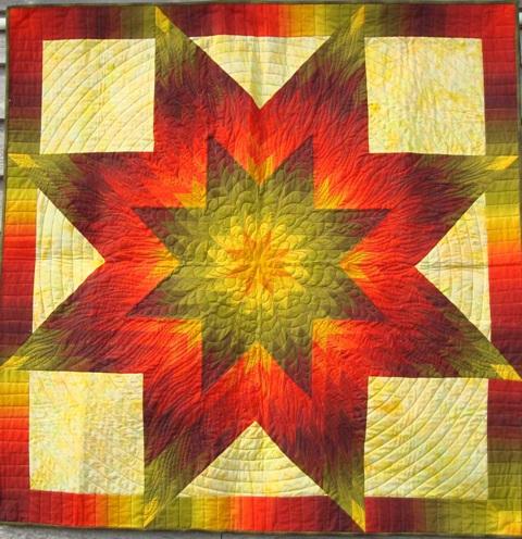 QuiltinGal Barbara H. Cline: Gallery II : blazing star quilt - Adamdwight.com