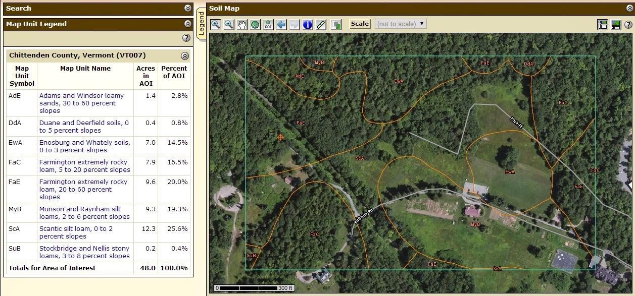 Wild burlington rock point inventory brick 39 s brook for Soil web survey