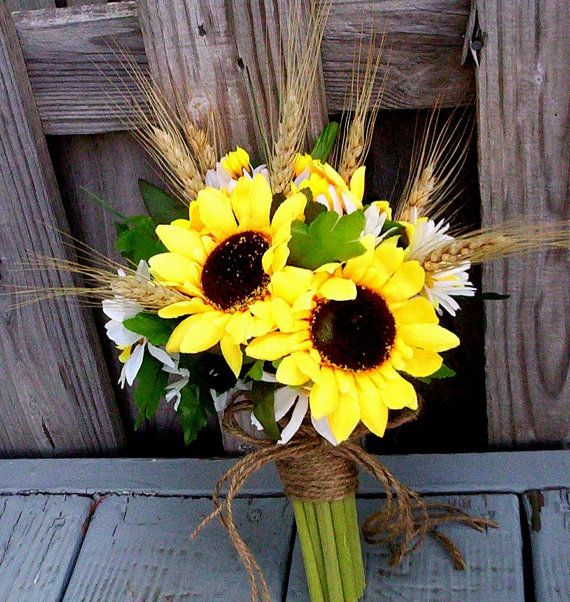 Sunflower Wedding Bouquet Ideas