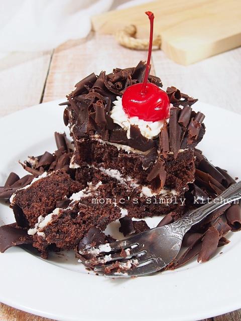 resep black forest cake tanpa emulsifier