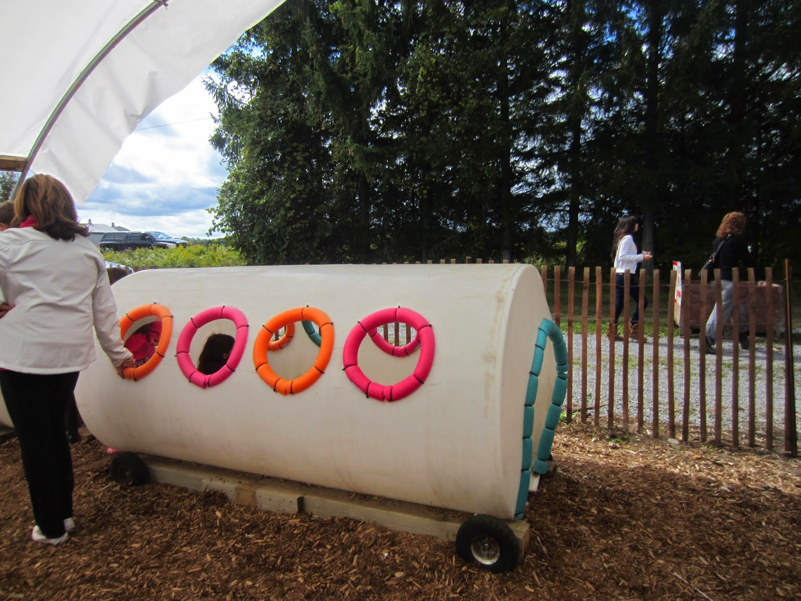 Archibalds Orchards and Estate Winery, re-purposed farm equipment into a playground