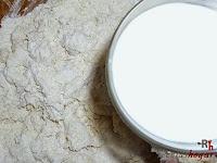 Pan de Jamón-poniéndole la leche