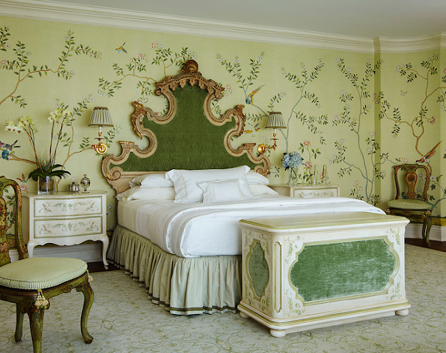 deGournay Badminton green wallpaper