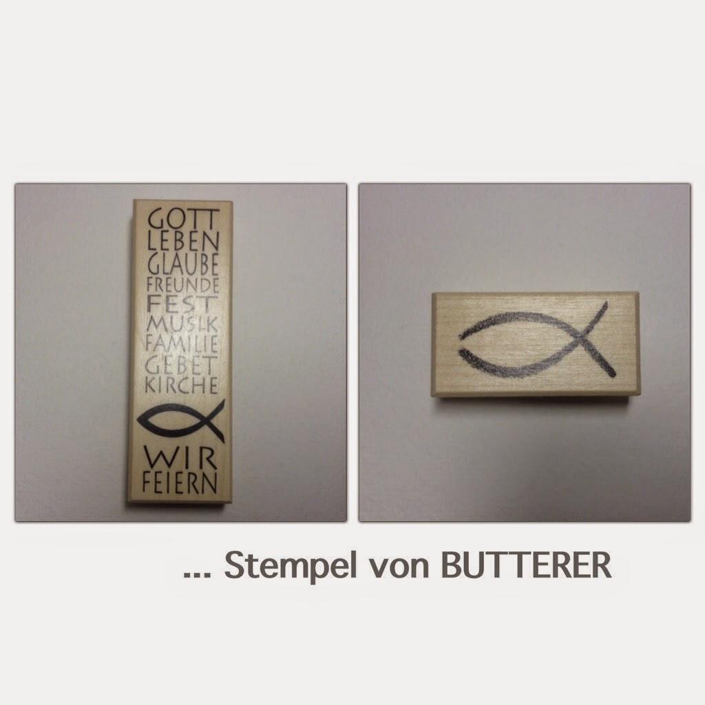 Kommunionskarten Stempel Butterer