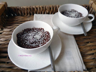 Lower Fat Dark Chocolate Pots
