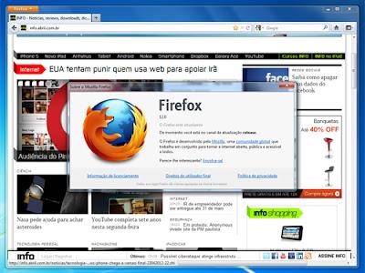 Firefox automatiza o seu gerenciador de downloads.