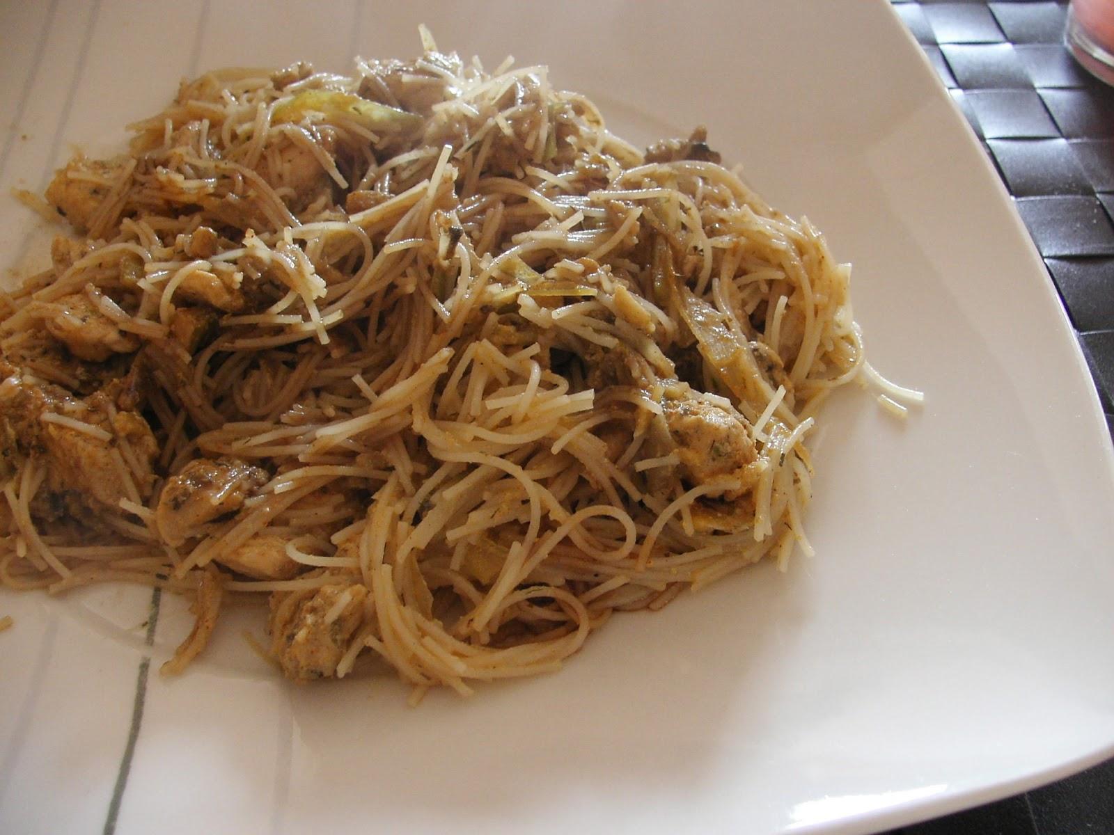 Cocinar sin sal mihoen goreng con pollo sin sal - Cocinar sin sal ...