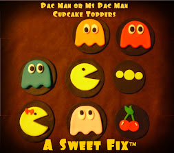 Pac Man & Ms Pac Man Cupcake Toppers