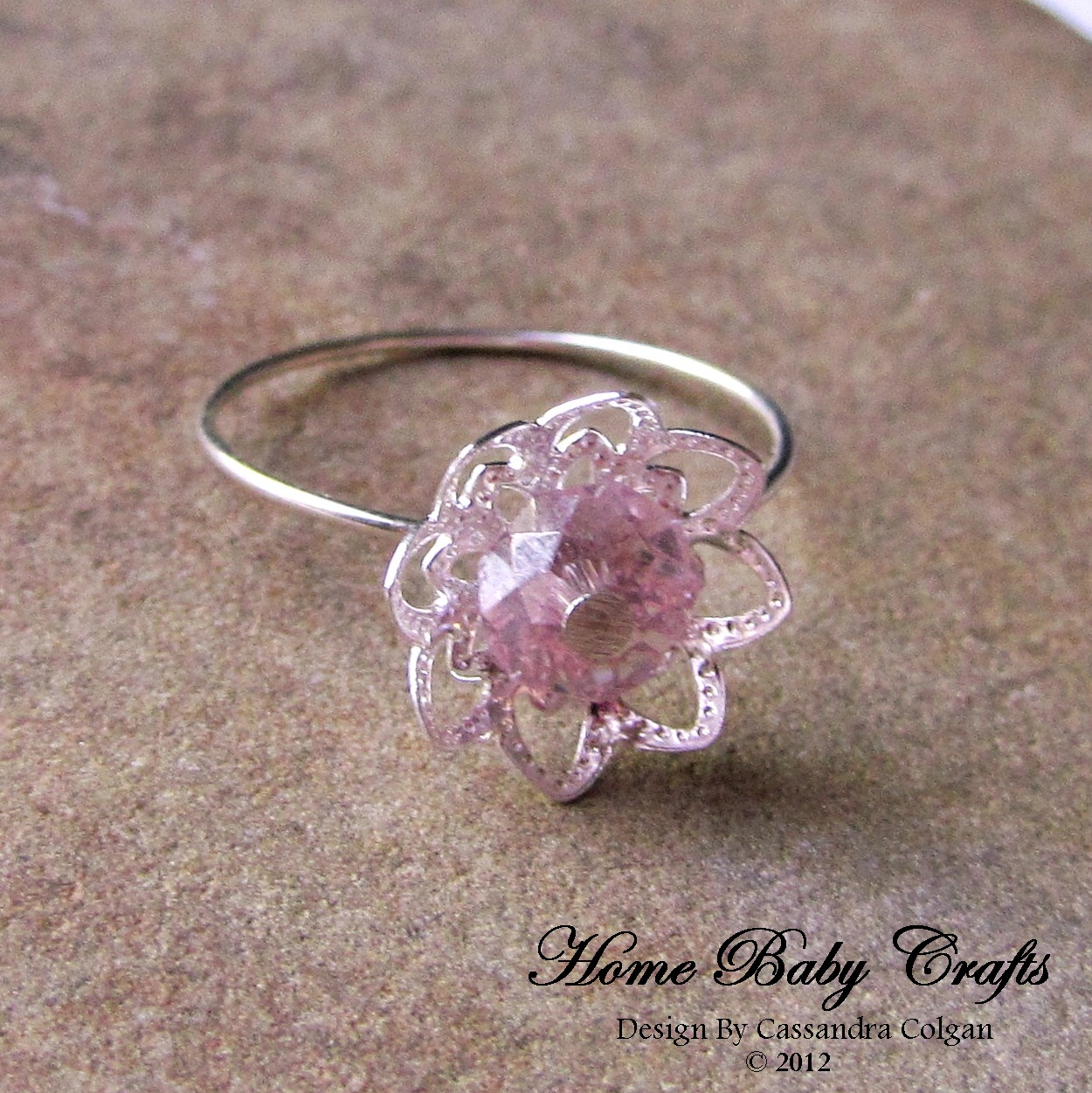 Wired Tree | The Wired Tree Ring Tutorial Easy Solitaire Flower Blossom Ring