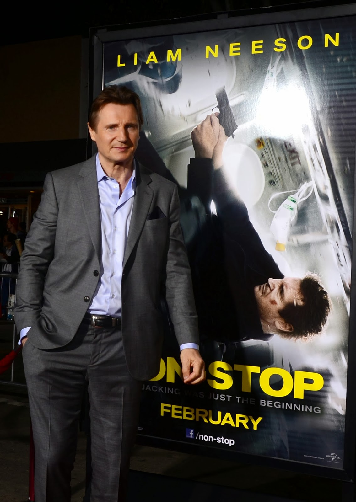 2014 movies, Anson Mount, Cast, Film, France, Hollywood, Julianne Moore, Liam Neeson, Los Angeles, Lupita Nyong'o, Michelle Dockery, Movie Premiere, Movies, Non-Stop, Premiere, Scoot McNairy, Showbiz, Starring,