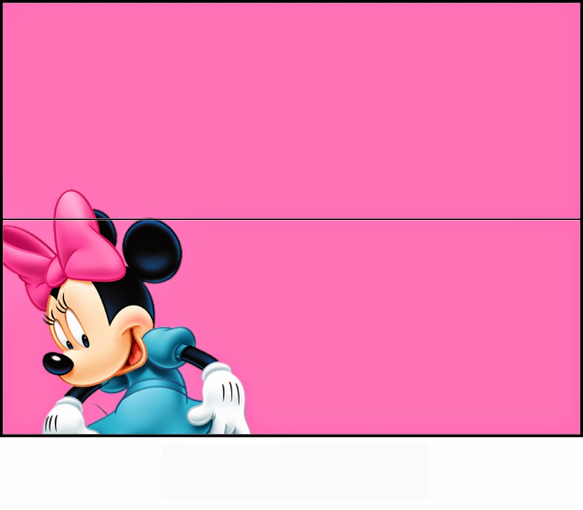 Minnie in Pink; Free Printable Candy Bag Label.