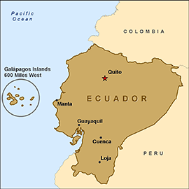 I will be staying in Guayaquil, Ecuador's largest city!