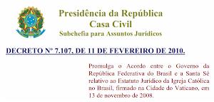 BRASIL - SANTA SÉ