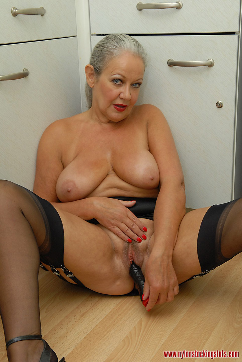 Old women in pantyhose