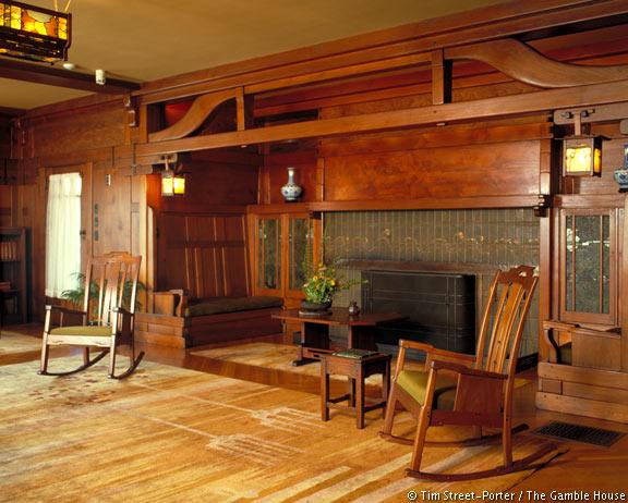 Gamble house by greene greene housevariety for Greene and greene inspired furniture