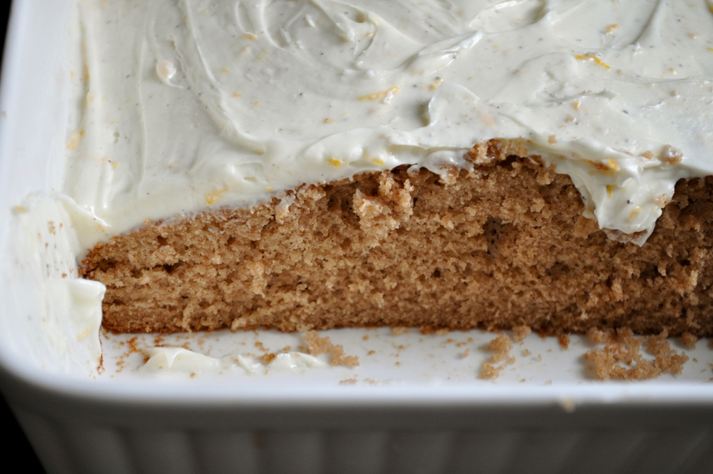 Orange Gingerbread With Cream Cheese Frosting Recipe — Dishmaps