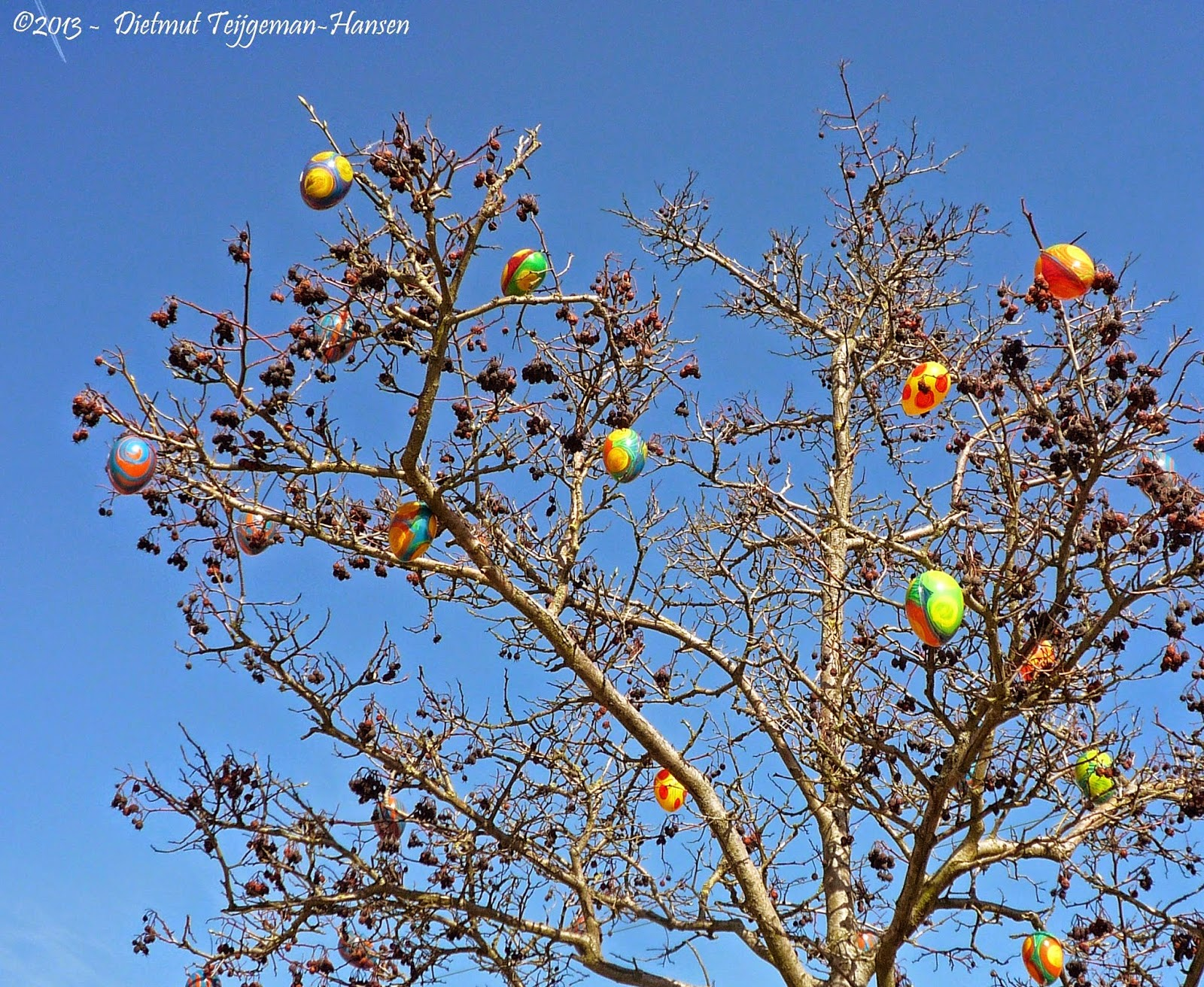Saw theseeaster eggs trees last year in uelzen germany