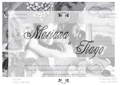Convites de casamento - Para Casamento