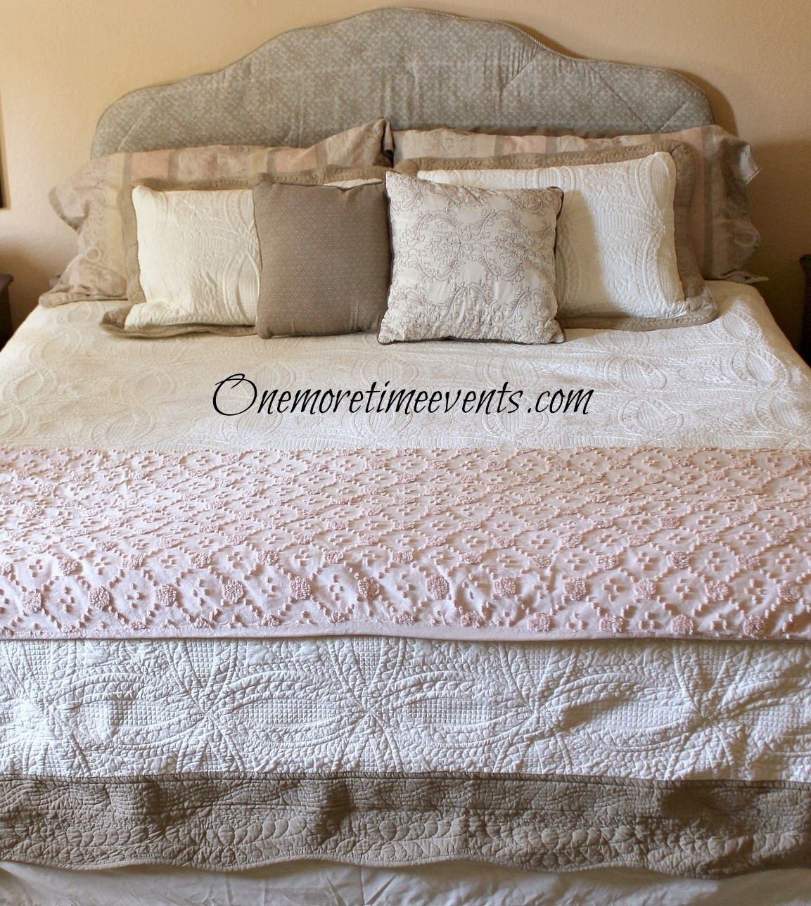 Master bedroom budget makeover at One More Time Events.com