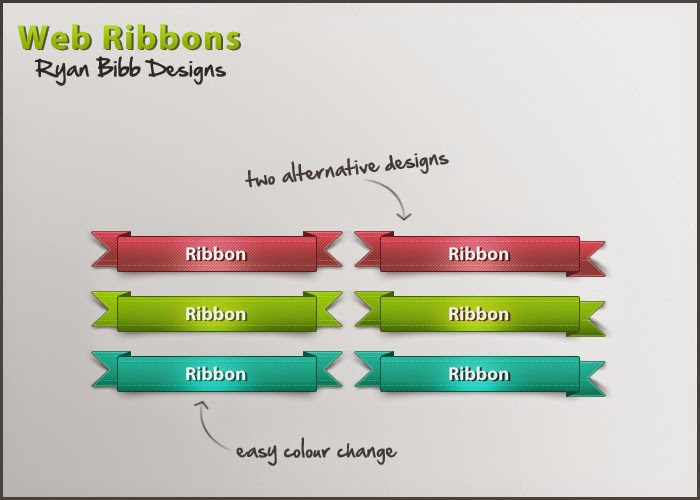 Free Web Ribbons PSD