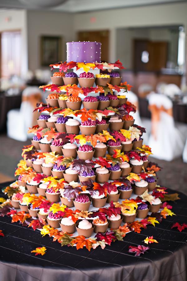 Una Tarta Diferente! Cupcakes y Hojas Secas.