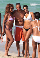 Nicole Murphy posing for a photo at Miami beach