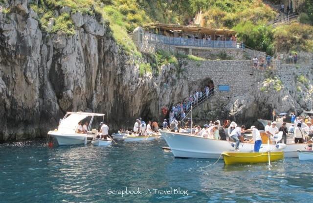 Grotta Azzurra or Blue Grotto Capri Italy