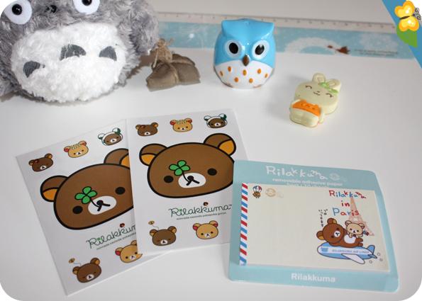 Kawaii Box Tamtokki spéciale rentrée -  stickers ainsi que des post-it Rilakkuma