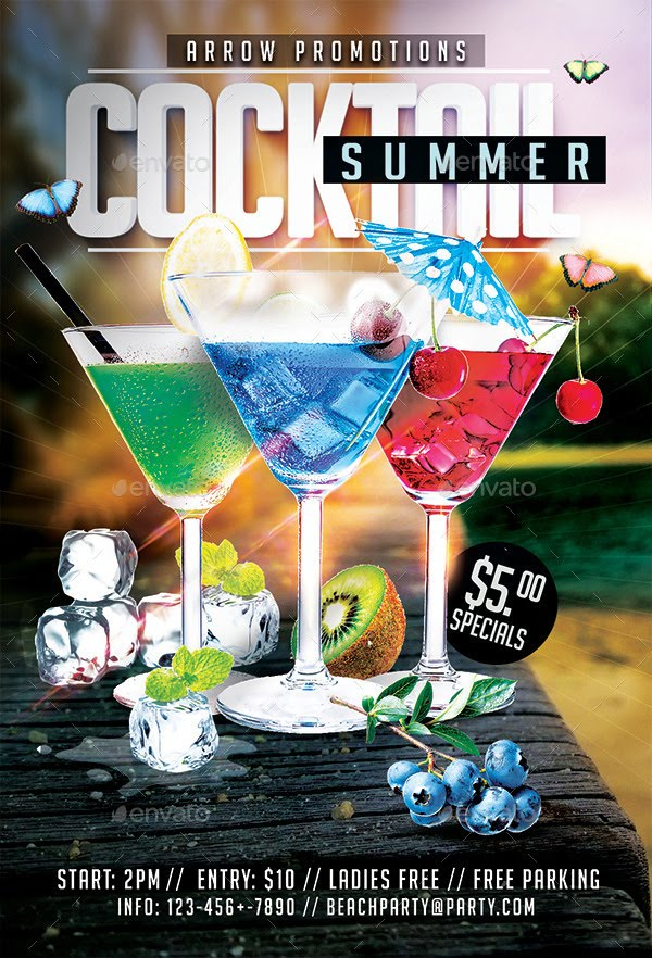 17  creative cocktail party flyer designs   download now