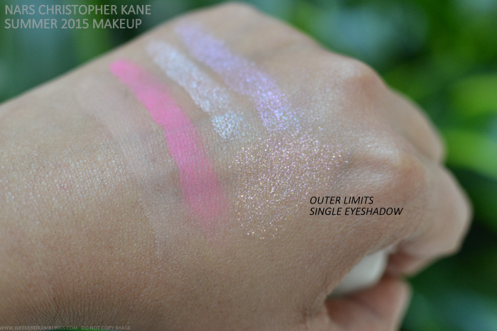 NARS Christopher Kane Makeup Collection Summer 2015 Swatches Eyeshadows Duo Single Swatches Parallel Universe Outer Limits