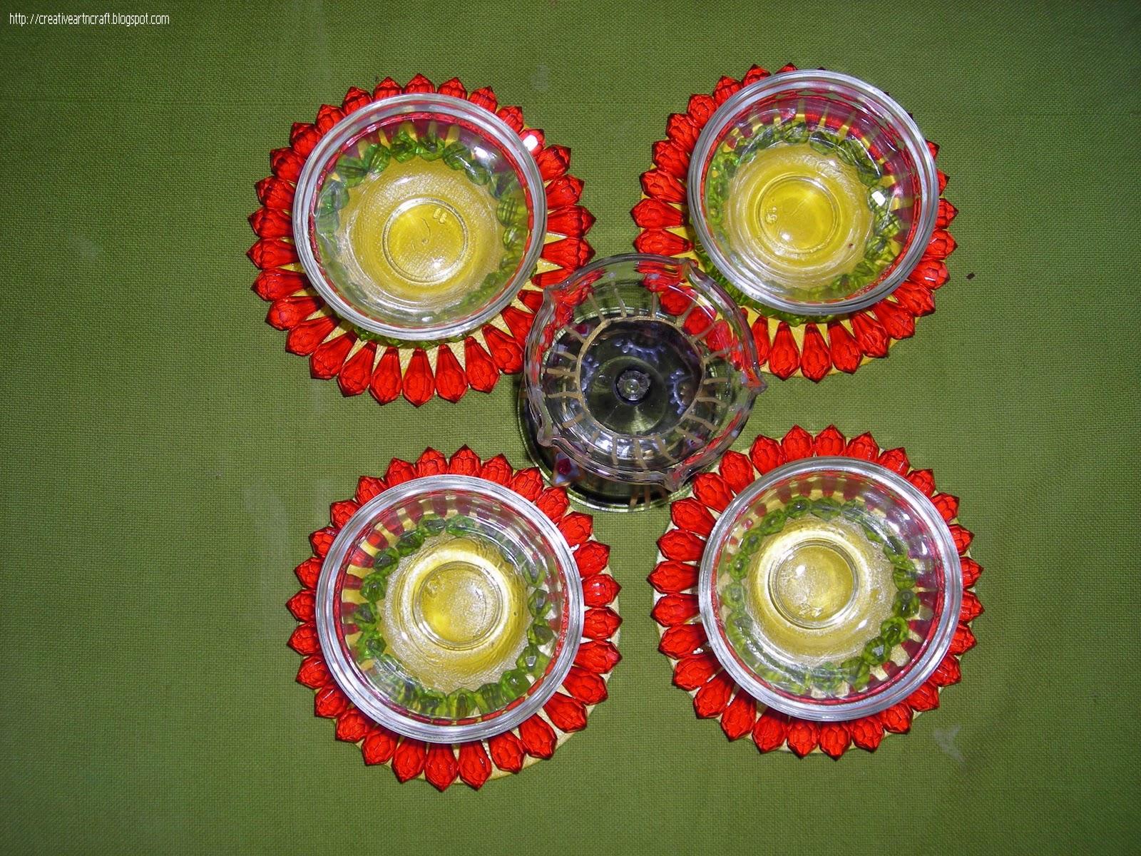 Anu 39 s art and crafts october 2011 for Art and craft diya decoration