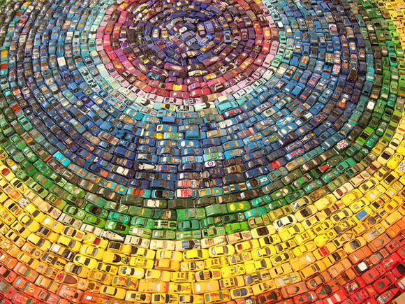 2,500 Toy Atlas Rainbow Art Car Installation