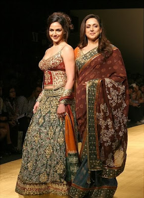 Esha Deol in Bridal Dress Fashion India Fashion Week