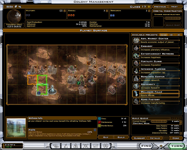 Galactic Civilizations 2: Twilight of the Arnor - Industrial Planet Screenshot