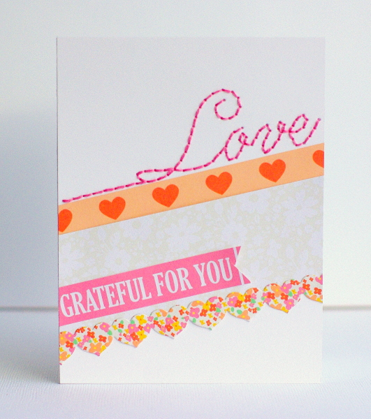 Leigh Penner Chickaniddy Crafts Love Stitch Card