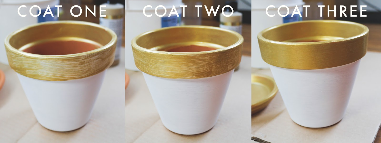 golden clay pots diy victoria rose park