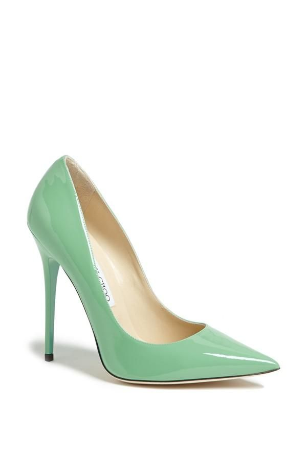 Mint patent Jimmy Choo pump