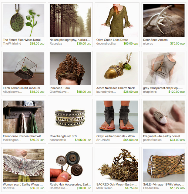 Forest inspired giftguide on Etsy